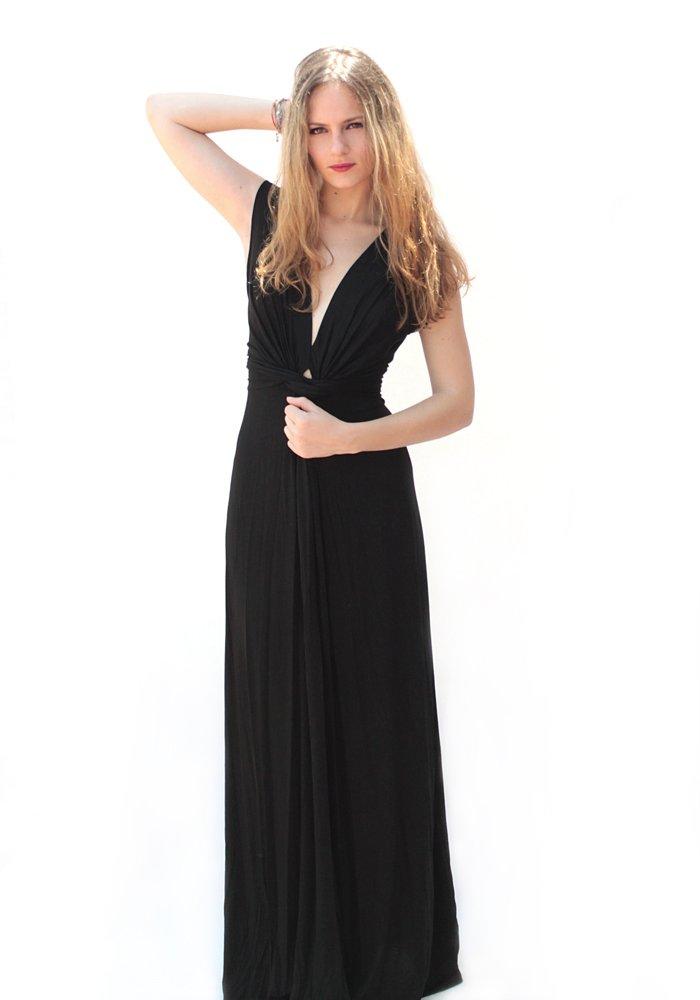Maxi Φόρεμα V Neck Black - One Size - ΡΟΥΧΑ 4b05e0d58aa