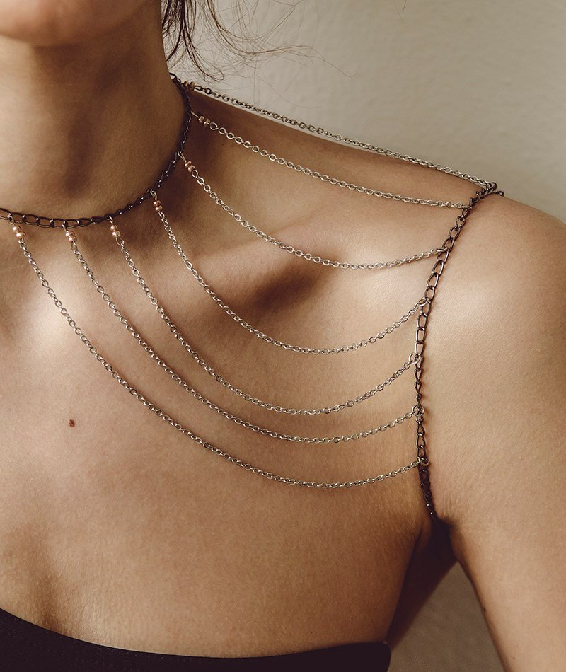 Grab my Shoulder Chain Necklace - Handmade