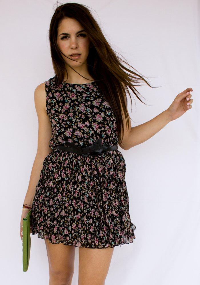 6620c76e0c81 Κοντό Floral Πλισέ Φόρεμα (με ζώνη) - Back In - ΡΟΥΧΑ