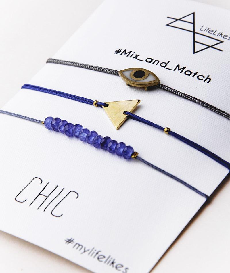 Chic Set of 3 Bracelets - Handmade