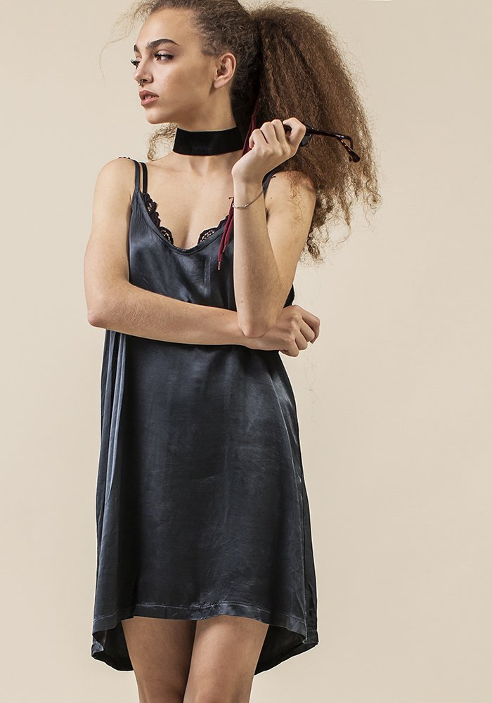 Rainy Touch Slip Dress