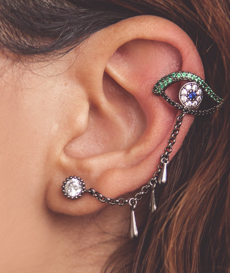 At First Glance Drape Ear Cuff - Designed in Paris
