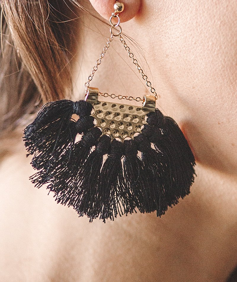 Chained Tassels Earrings