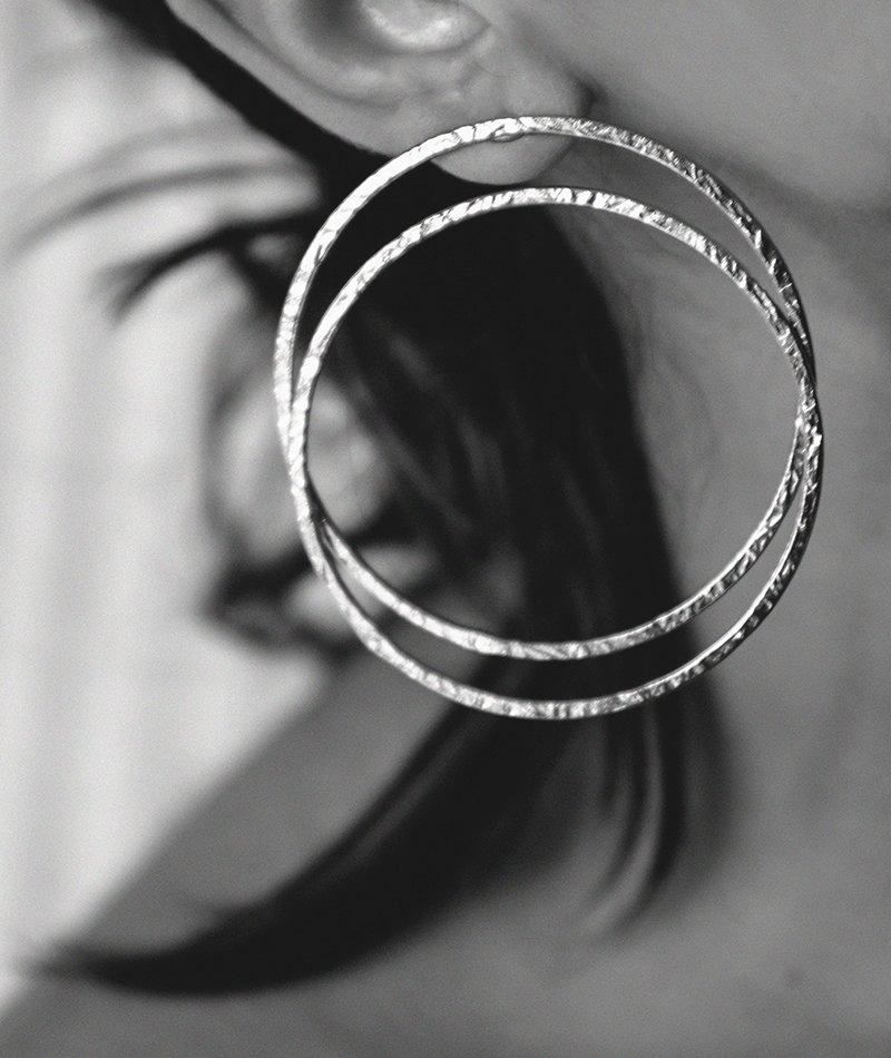 Double Tap Hoop Earrings - Handmade