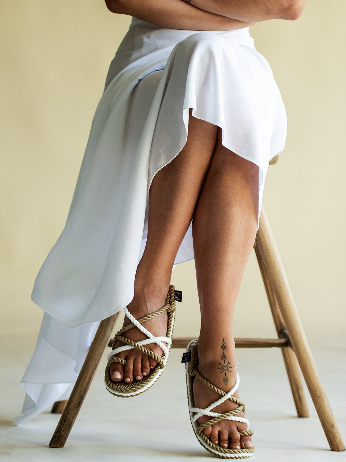 0d1add845b3 Toe Joe Camel White Sandals - Nomadic State of Mind