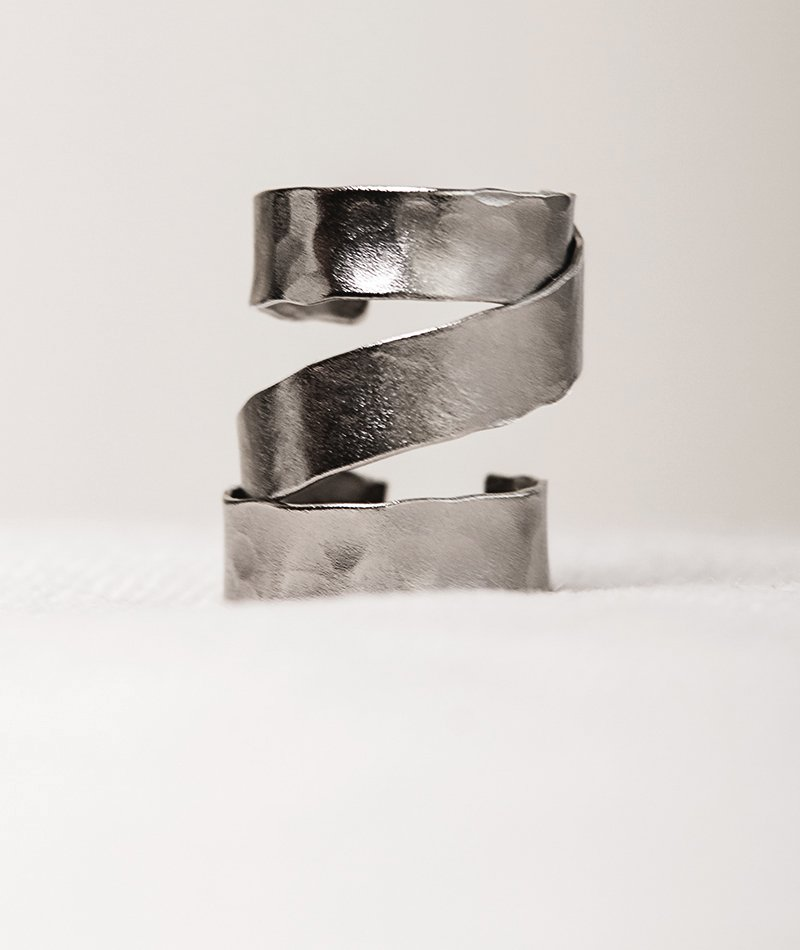 Satin Quincunx Ring - Handmade