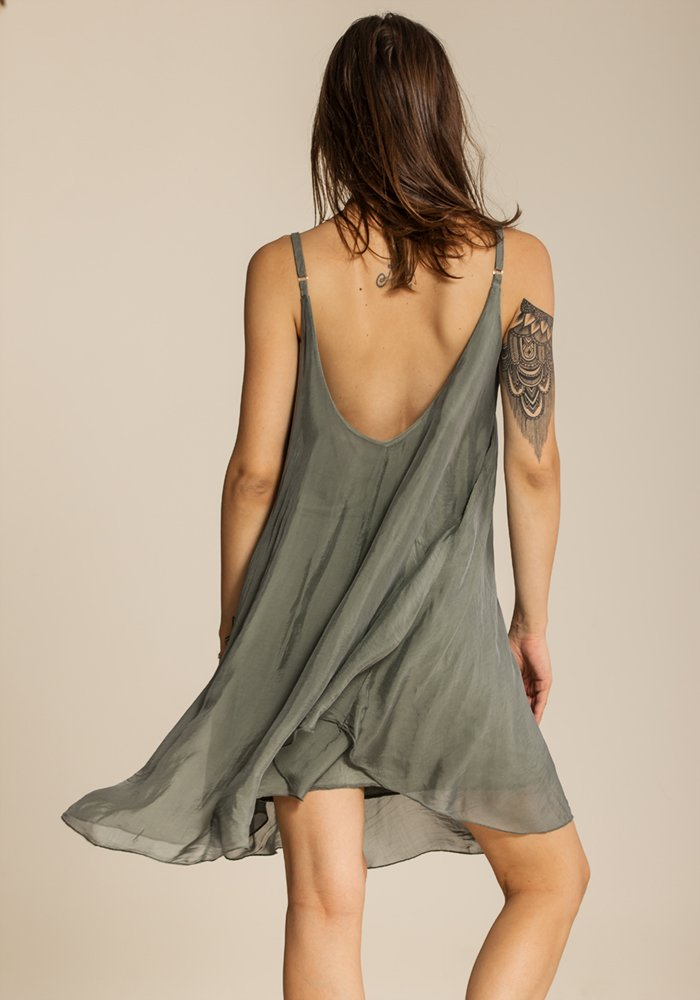 Airy Joyous Olive Dress