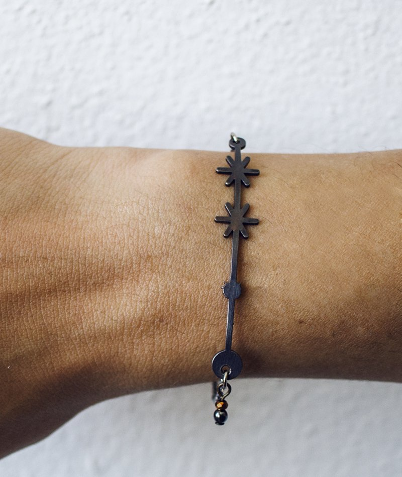 Moonless Night Bracelet - Handmade