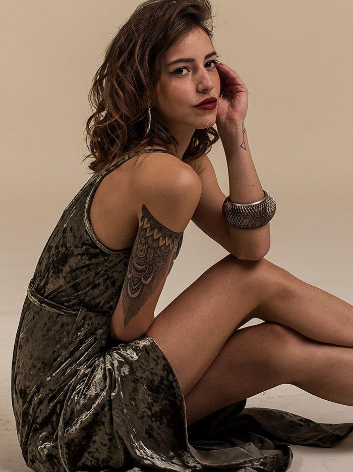 14695c3c83 Verde Mary Velvet Dress - exclusive - ΡΟΥΧΑ