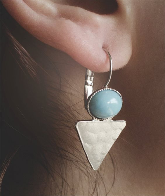 Deep Ocean Earrings - Handmade