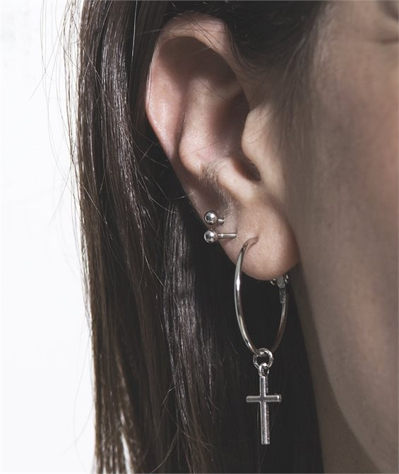 Cross the Circle Earrings - Handmade