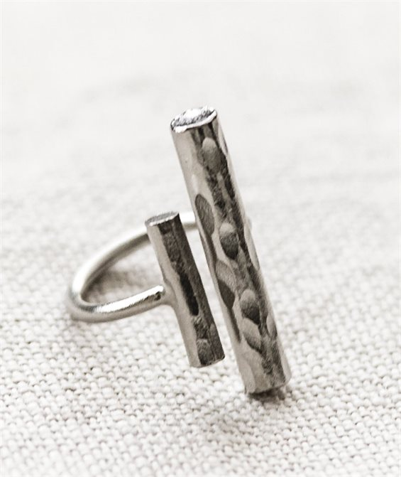 Lean Backwards Ring - Handmade