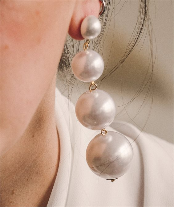 Chariot of Pearl Earrings - Handmade