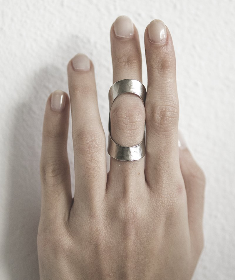 Feel the Gap Ring - Handmade