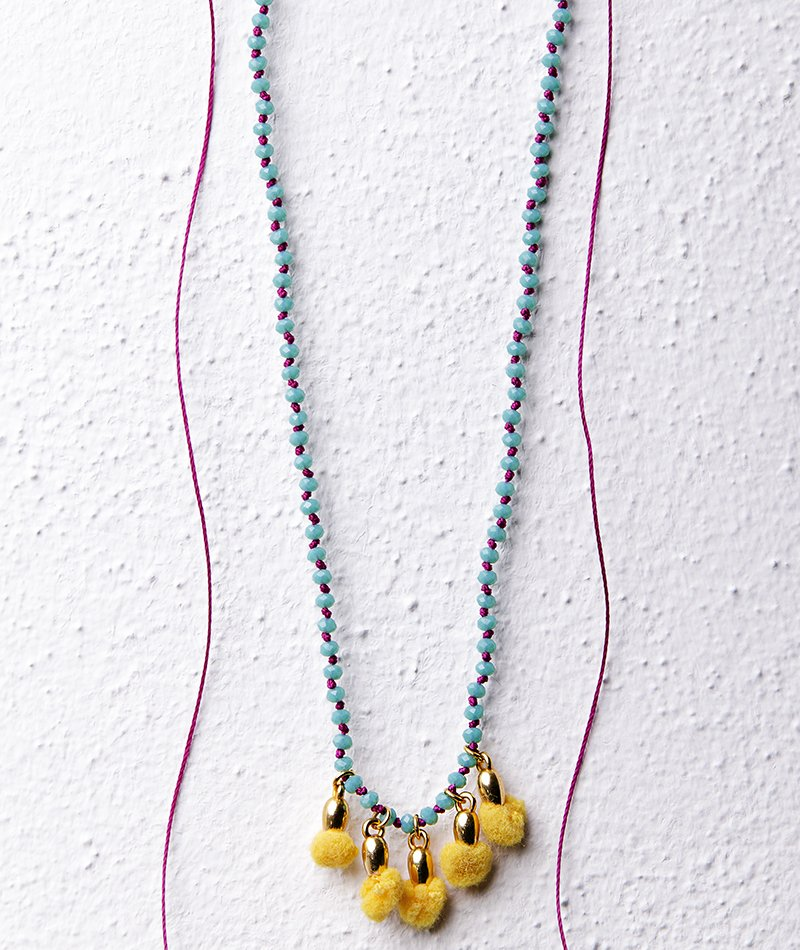 Lemons in Row Necklace