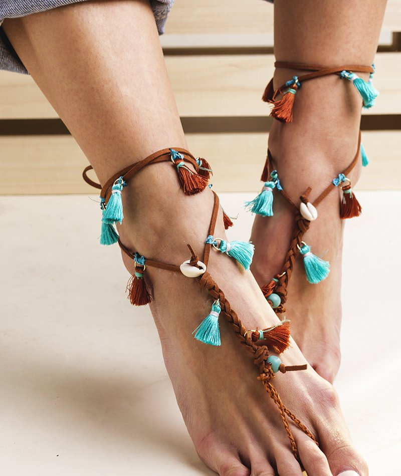 Water Steps Barefoot Sandals Pair of 2 - Handmade
