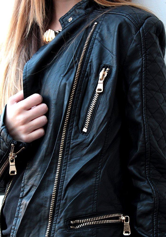 Jacket Δερμάτινο Χρυσά φερμουάρ - ΡΟΥΧΑ 1fcd2021cc6