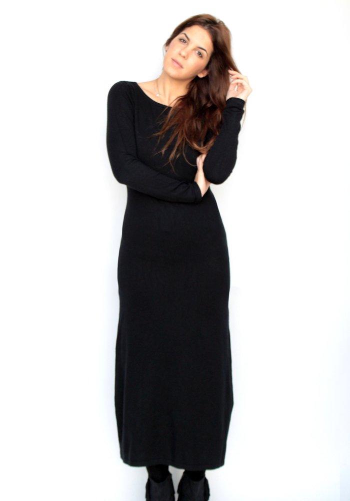 969378789c5a Maxi Μάλλινο Φόρεμα Black - ΡΟΥΧΑ