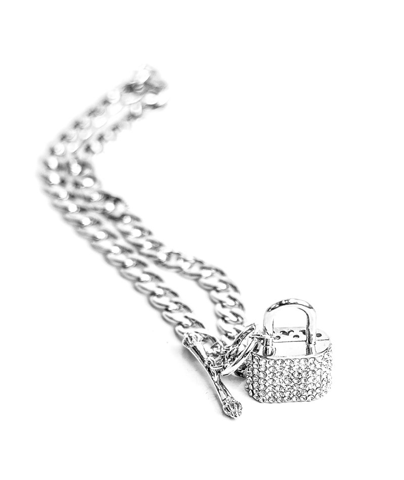 Locked In Silver Chain Necklace